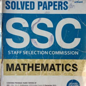 Arihant Maths SSC Chapter Wise Solved Papers