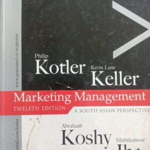 Marketing Management by Philip Kotler and Kevin llane